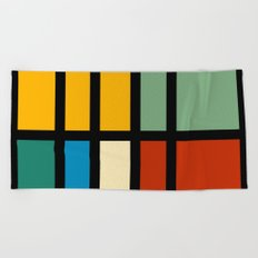 Abstract composition 23 Beach Towel