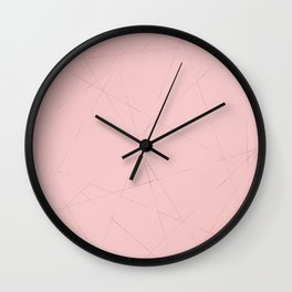 Modern abstract coral pink rose gold geometrical Wall Clock