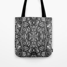Roller Coaster Black and White Tote Bag