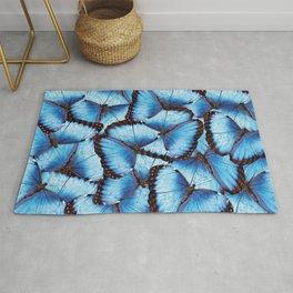Blue Morpho Butterfly Rug