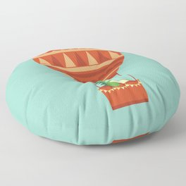 Dragon On Hot Air Balloon Floor Pillow