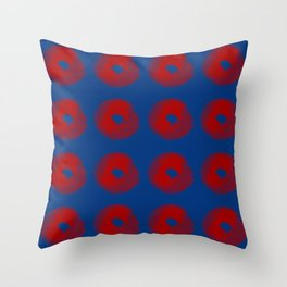 Spore donuts Throw Pillow