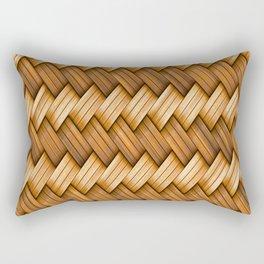 Golden Basket Weave Rectangular Pillow