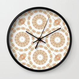 Citrine Mandala Tile Wall Clock