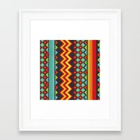 mexico Framed Art Prints featuring Mexico by rusanovska
