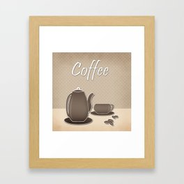 Picture .Coffee . Framed Art Print