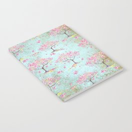 Spring Flowers - Cherry Blossom  Tree Pattern Notebook
