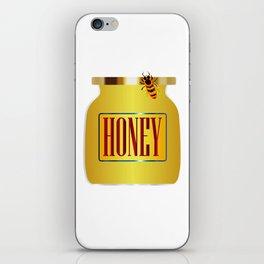 Honey Pot And Bee iPhone Skin