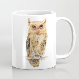 Animals | Owl Watercolour Print | Philippine Scops Owl | Painting Coffee Mug