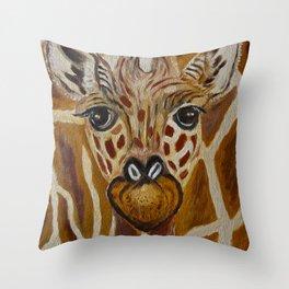 Baby Giraffe Art, Kids Room Bathroom Art, Zoo Animals, Nursery Room Throw Pillow