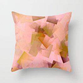 Geometric Stacks Pink Blush Throw Pillow