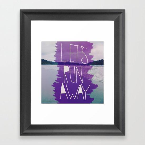 Let's Run Away: Manuel Antonio, Costa Rica Framed Art Print
