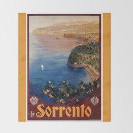 Italy Sorrento Bay of Naples vintage Italian travel Throw Blanket