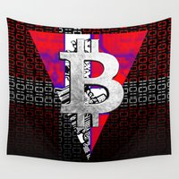 denmark Wall Tapestries featuring bitcoin denmark by seb mcnulty