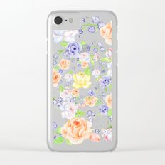 Bouquet of Orange AND Blue rose - wreath Clear iPhone Case