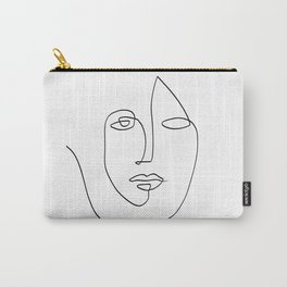 Abstract face One Line Art Carry-All Pouch