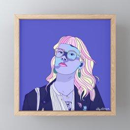 Cute pastel girl Framed Mini Art Print