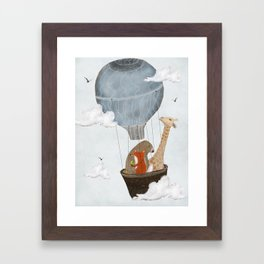 a big adventure Framed Art Print