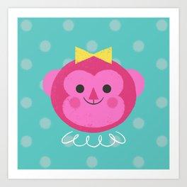 Dressy Monkey Art Print