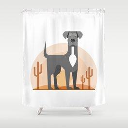 Odin of the Desert Shower Curtain