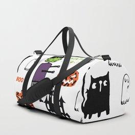 Cute Frankenstein and friends white #halloween Duffle Bag