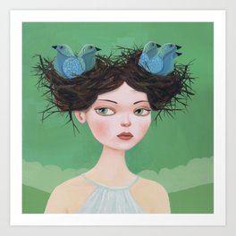 Gwen of Two Nests Art Print
