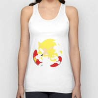 sonic Tank Tops featuring Super Sonic by JHTY
