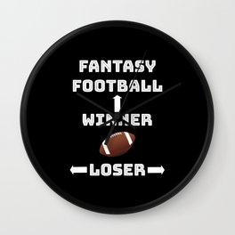 Fantasy Football Team Player College Coach Gift Wall Clock