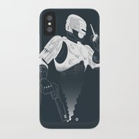 robocop iPhone & iPod Cases featuring Robocop by Alain Bossuyt