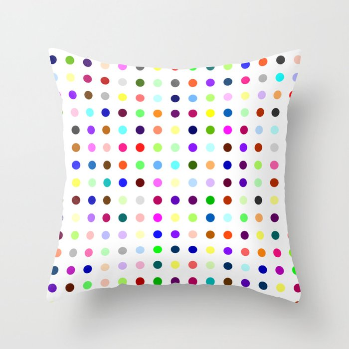 Big Hirst Polka Dot Throw Pillow