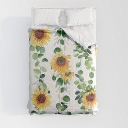 Eucalyptus and Sunflowers Garland  Comforters
