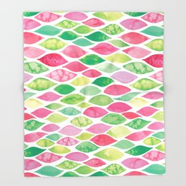 Watercolour Ocean | Watermelon Palette Throw Blanket