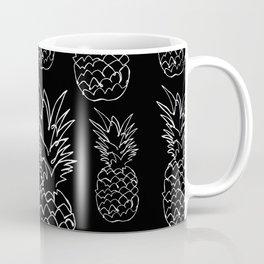 single line pineapple (white) Coffee Mug