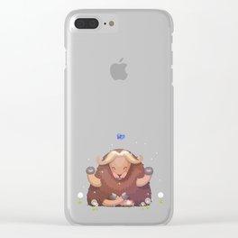 Meditating tibetan yak Clear iPhone Case