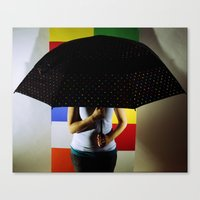 polka dots Canvas Prints featuring Polka Dots by Hil Wittenhagen