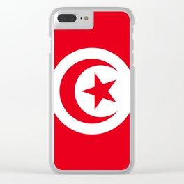Tunisia Flag Clear iPhone Case