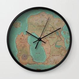 Map of Dereth //Asheron's Call Wall Clock
