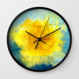 Sun And Flowers Adorn We Wall Clock