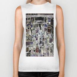 Abstract cityscape Biker Tank