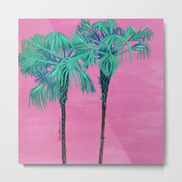 Up in the Palm Trees Metal Print