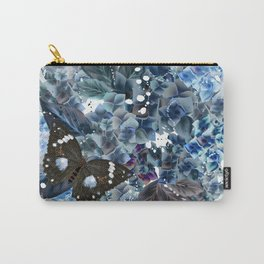 Beautiful bright pattern with hydrangea flowers and butterflies Carry-All Pouch