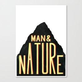 Man & Nature Canvas Print