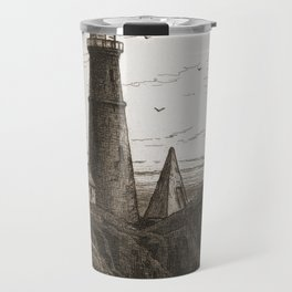 Vintage Lighthouse Art Travel Mug