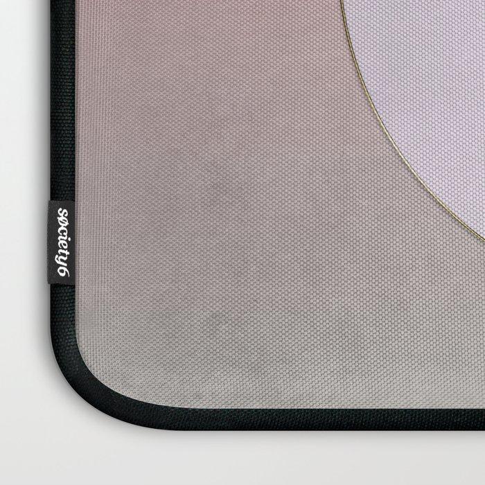 Soft Pastel Elegant Circles Laptop Sleeve