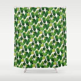 Pilea Peperomioides interior plant Shower Curtain