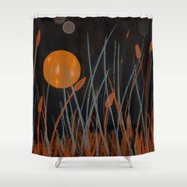 Autumn Moon #Original Art Shower Curtain