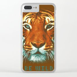 BE WILD Clear iPhone Case