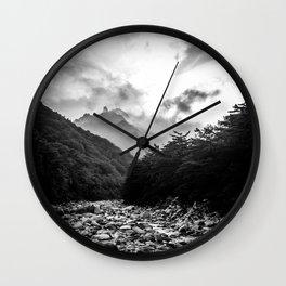 Seoraksan - Black and White Wall Clock