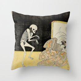 SPIRIT OF THE RENEGADE MONK SEIGEN - KATSUKAWA SHUNSHO Throw Pillow