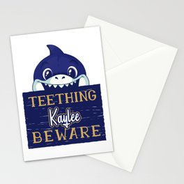 Kaylee - Funny Kids Shark - Personalized Gift Idea - Bambini Stationery Cards
